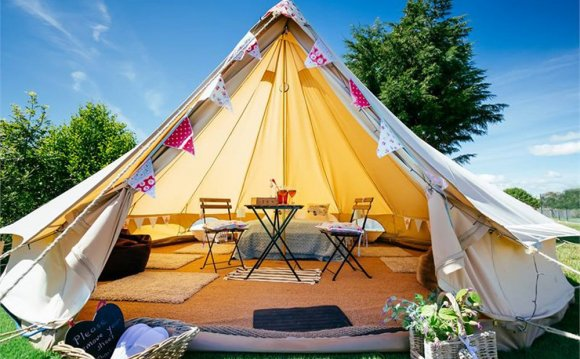 The tents will comfortably