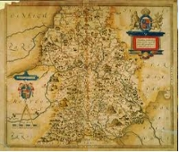 Image of Saxon Map of Shropshire & The Marches, click the image to go to The MArches page to look for things to do and accommodation in and around Powys and the Marches